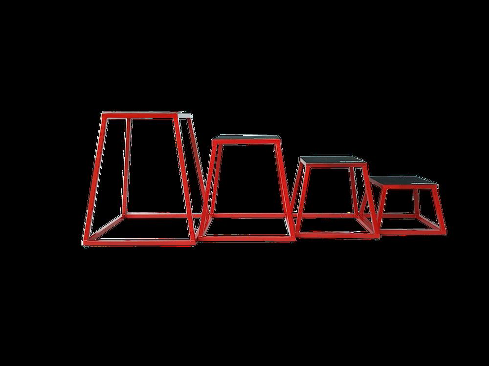 Plyoboxy set - ocelový rám