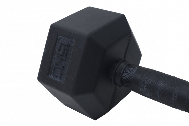 Hexagon Dumbbells - rubber 25 kg - 50 kg - Weight: 40 kg