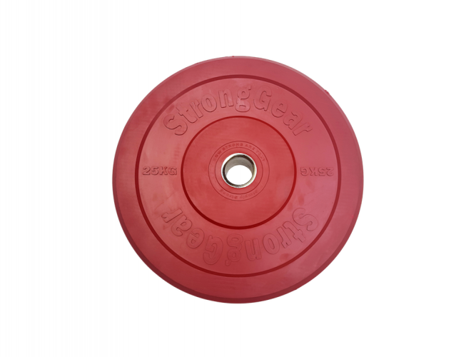 Coloured Bumper Plates - Weight: 25 kg