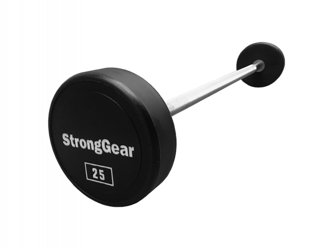 Polyurethane straight biceps barbell - Weight: 22.5 kg