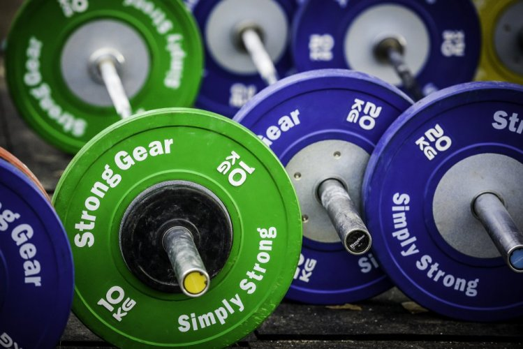 stronggear bar endcaps and bumper plates