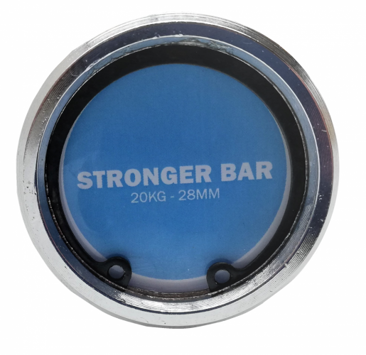 Stronger Olympic Bar 2.0 - Zentral Rändeln: With center knurling