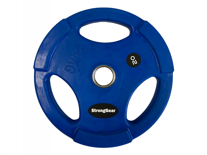 Coloured Rubberized Tri-Grip Plate