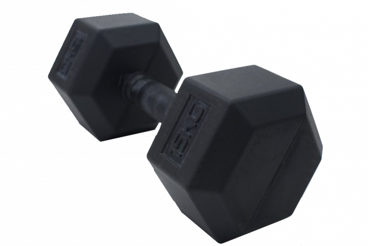 Hexagon Dumbbells - rubber 1 kg