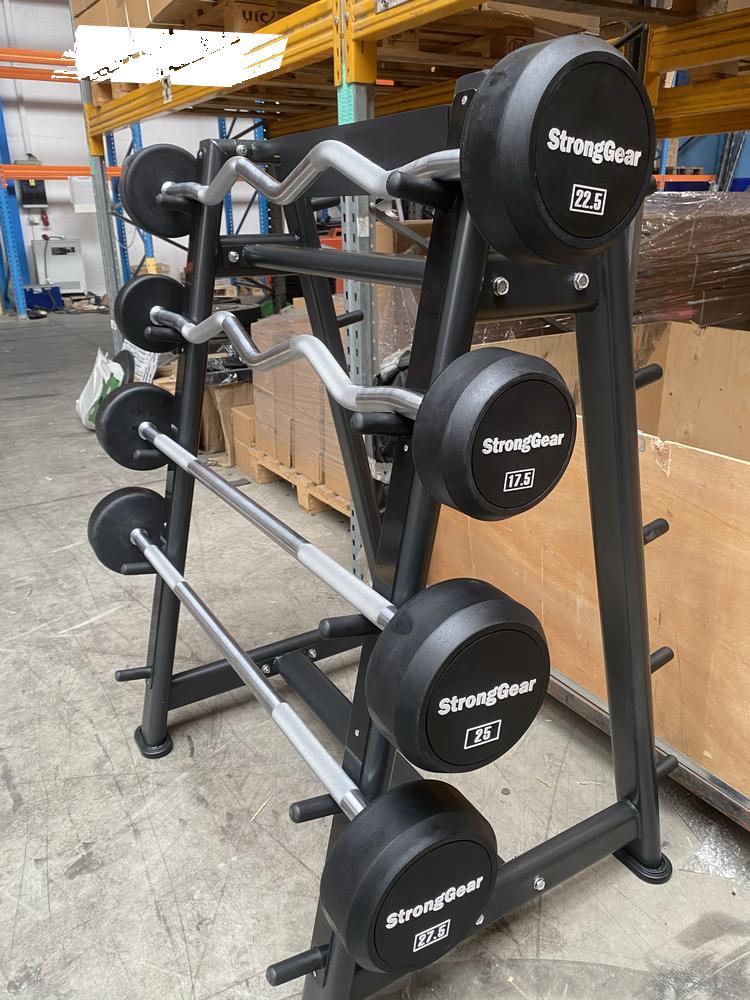 Gumové bicepsové činky – sada